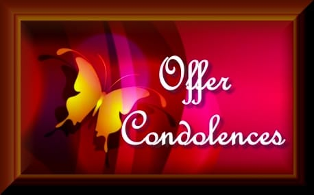Offer condolences image